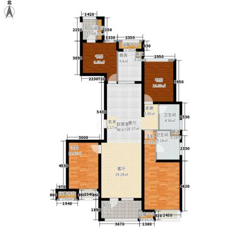 万科金域平江4室0厅2卫1厨135.00㎡户型图