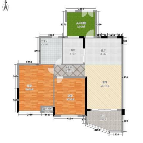 世纪城龙嘉苑2室1厅1卫1厨145.00㎡户型图
