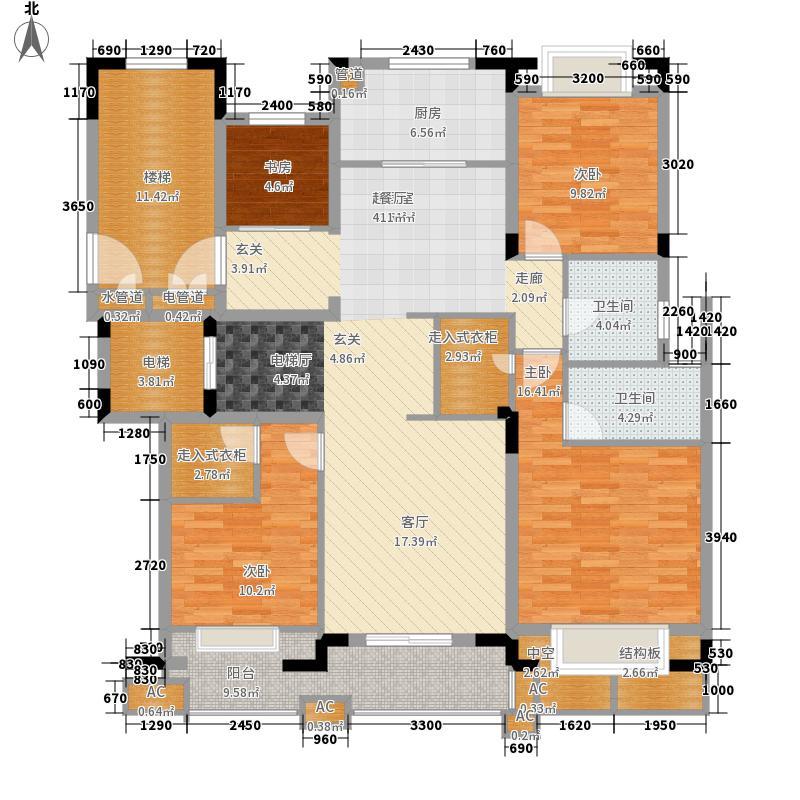 大华西溪风情澄品131.00㎡B8户型4室2厅