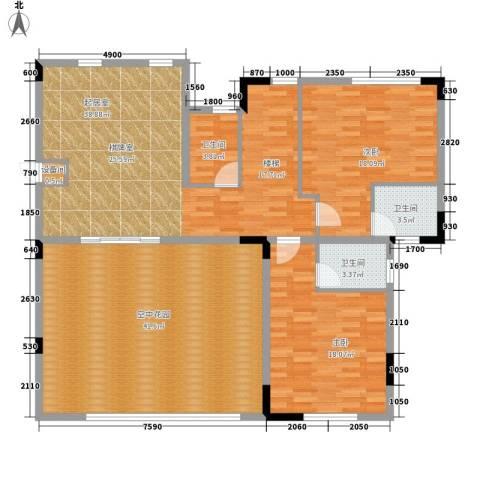 兴业海逸半岛花园2室0厅3卫0厨254.00㎡户型图