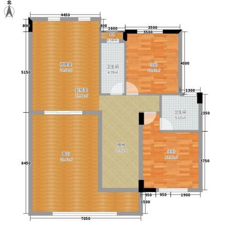 兴业海逸半岛花园2室0厅2卫0厨215.00㎡户型图