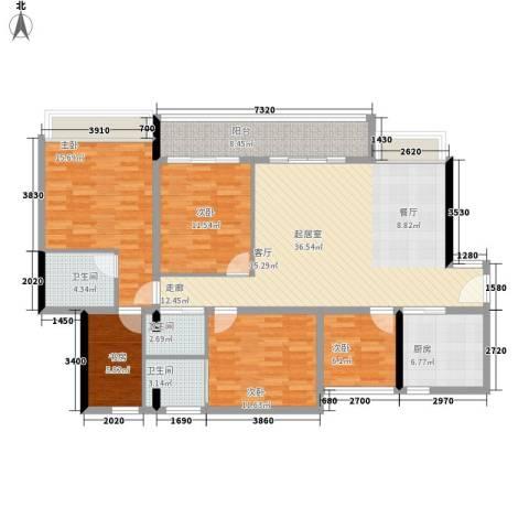 星誉花园5室0厅3卫1厨133.00㎡户型图