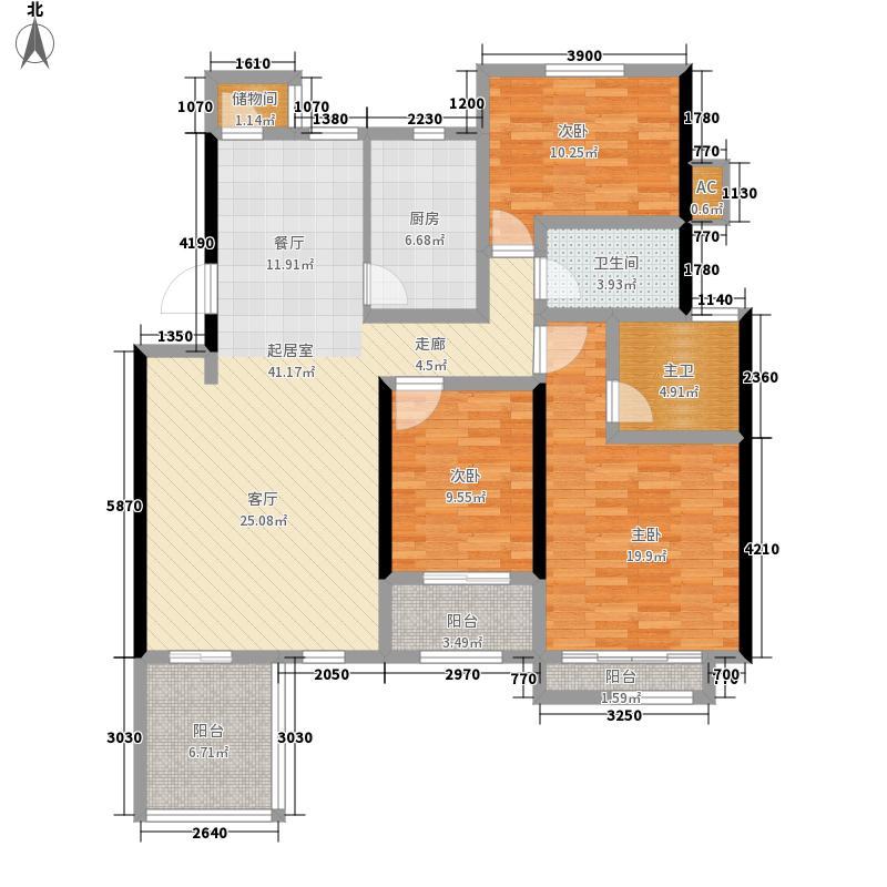 建邦原香溪谷花园洋房B二层平面图户型