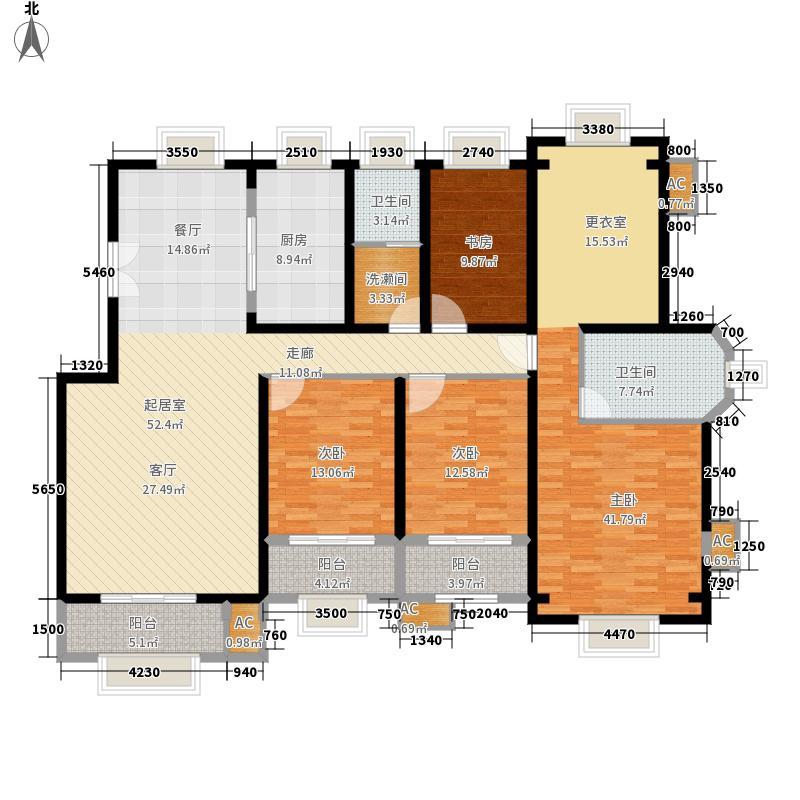 香邑溪谷188.00㎡南区电梯洋房M1户型5室2厅