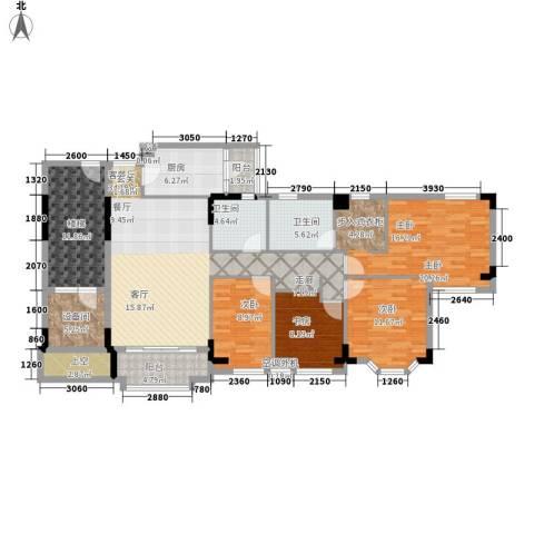 世纪城龙嘉苑4室1厅2卫1厨199.00㎡户型图