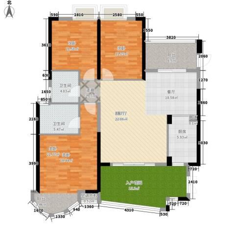 世纪城龙嘉苑3室1厅2卫1厨145.00㎡户型图