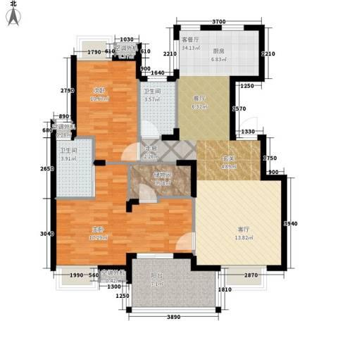 世纪城龙嘉苑2室1厅2卫0厨116.00㎡户型图
