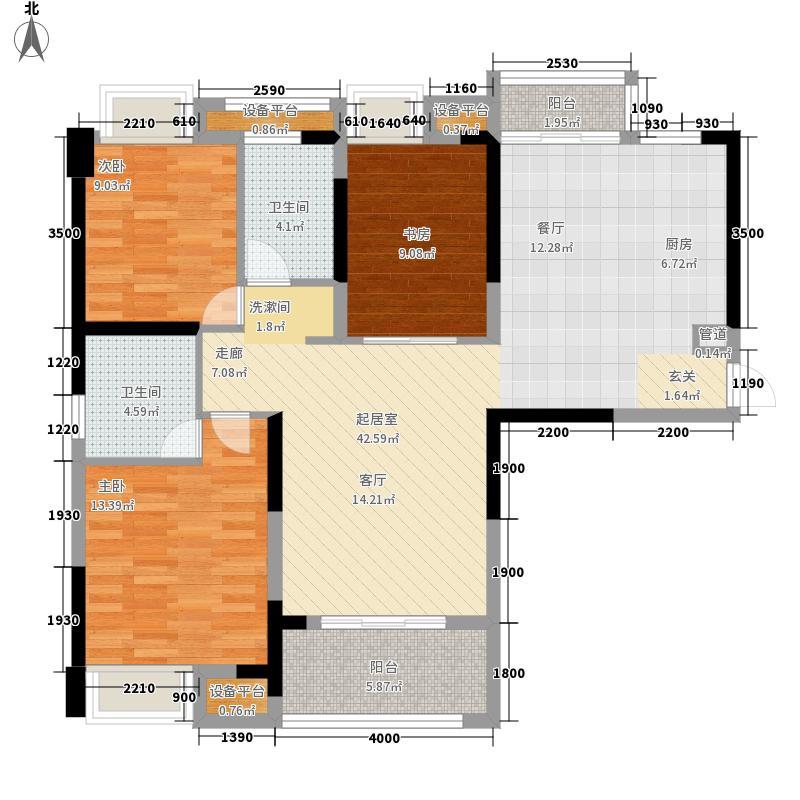王家湾中央生活区123.00㎡6、7号楼B3户型3室2厅