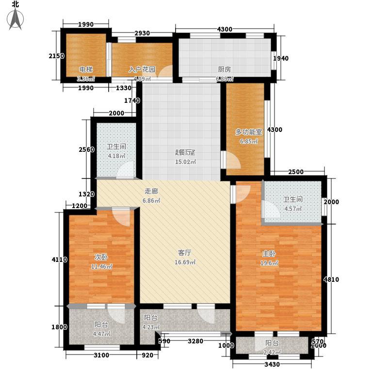 山语世家137.00㎡二期F1-F4号楼F1户型3室2厅