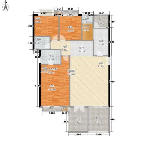 高山流水3室0厅3卫1厨145.00㎡户型图