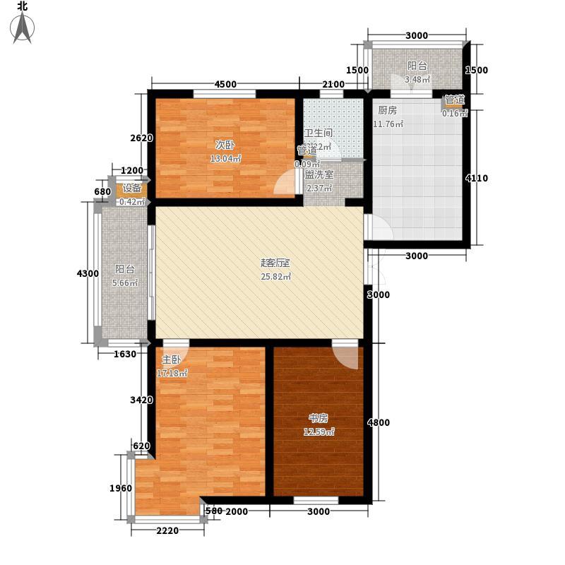 大正莅江145.23㎡10号楼一单元1门/二单元3门三室户型3室2厅