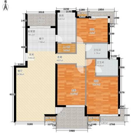 高山流水3室0厅2卫1厨130.00㎡户型图