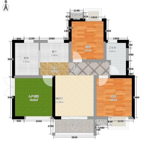 世纪城龙嘉苑2室1厅1卫1厨198.00㎡户型图