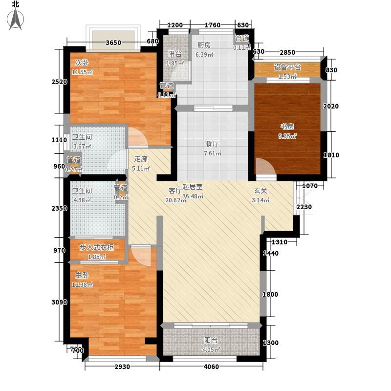 富力华庭C5#楼二户型
