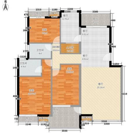 高山流水3室1厅2卫0厨130.00㎡户型图