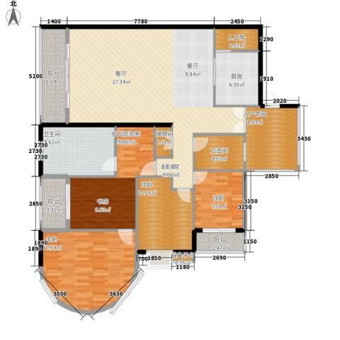 高山流水4室0厅2卫1厨155.00㎡户型图