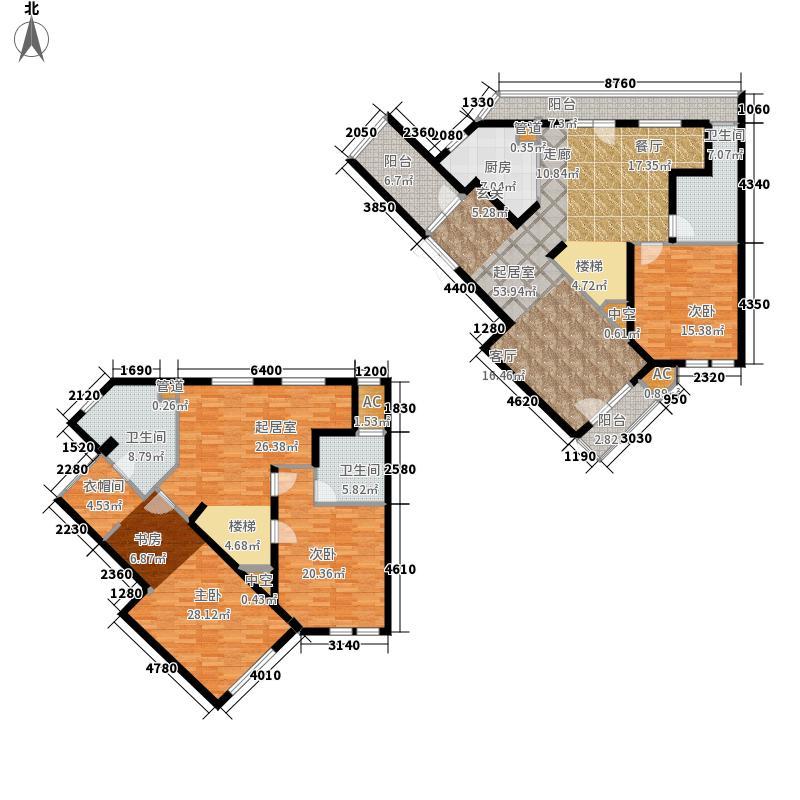 绿城理想之城226.00㎡户型4室3厅