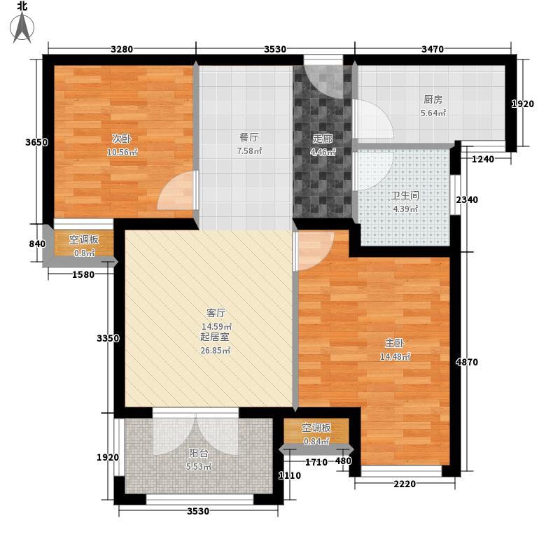 上海公馆78.91㎡6号楼A户型2室2厅