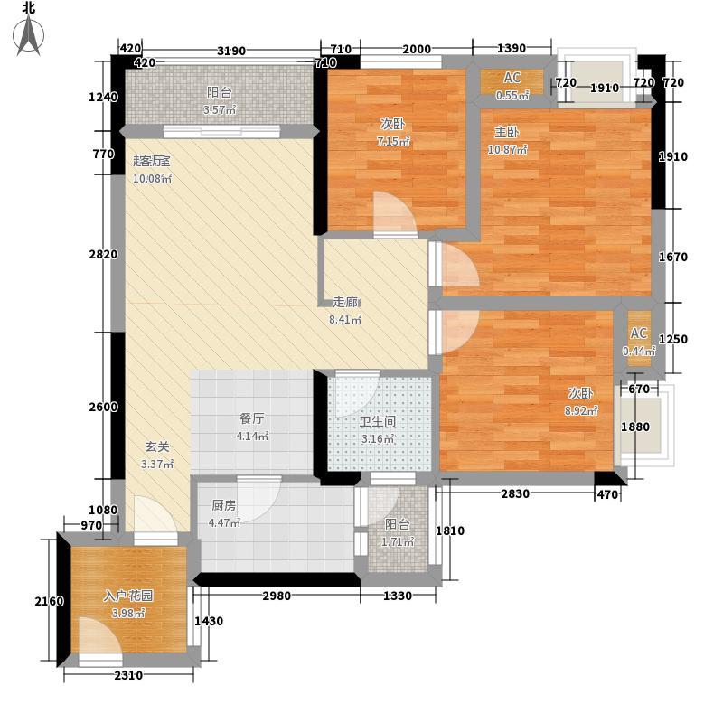 安泰城市理想高层4号楼C户型3室2厅