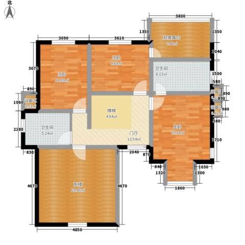 渡外云居3室0厅2卫0厨104.00㎡户型图