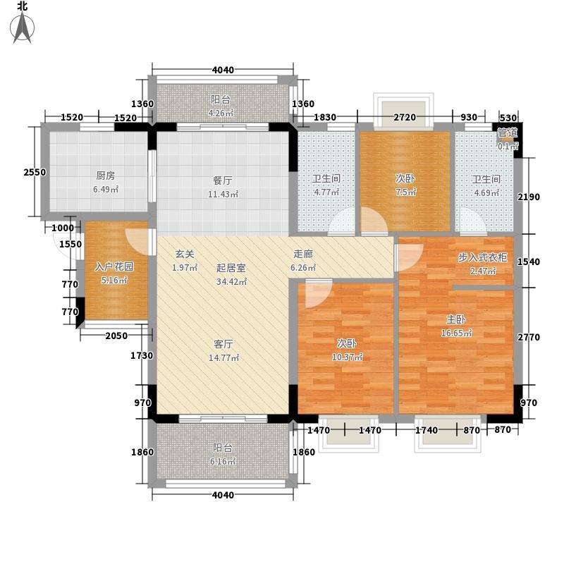 凤凰华庭115.00㎡E户型3室2厅