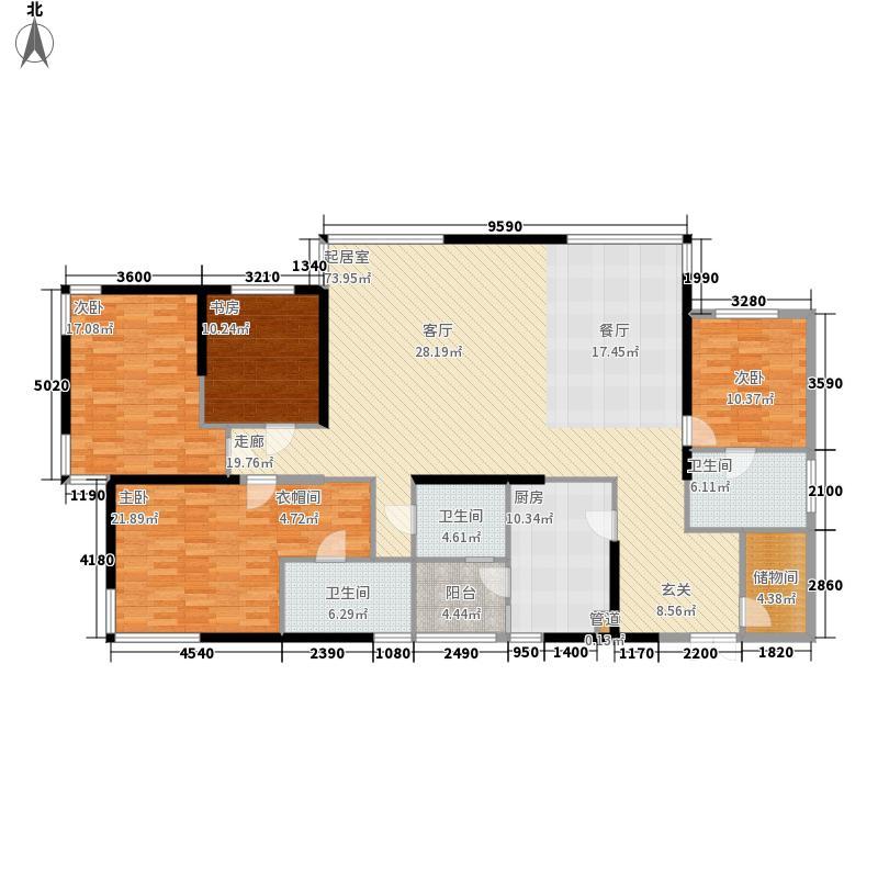 晓港名城六期领海216.00㎡瞰海超高层建筑面积约为F户型4室2厅