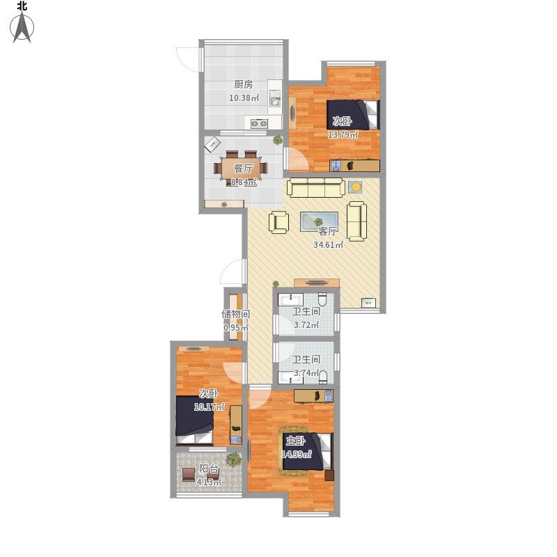 132三室两厅两卫