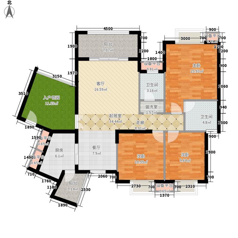 龙光阳光海岸121.61㎡5栋1单元01 户型3室2厅