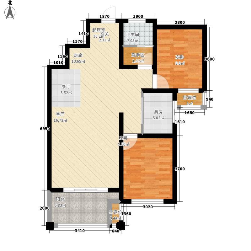 方正·月亮湾91.35㎡D3-1户型2室2厅