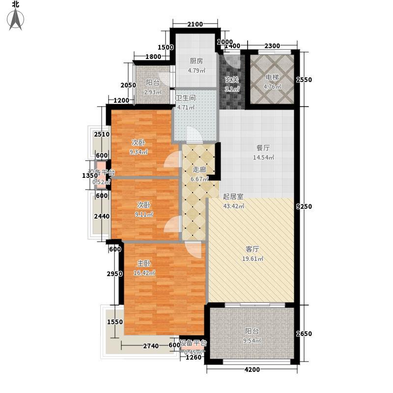 龙光阳光海岸115.01㎡5栋1单元03 户型3室2厅