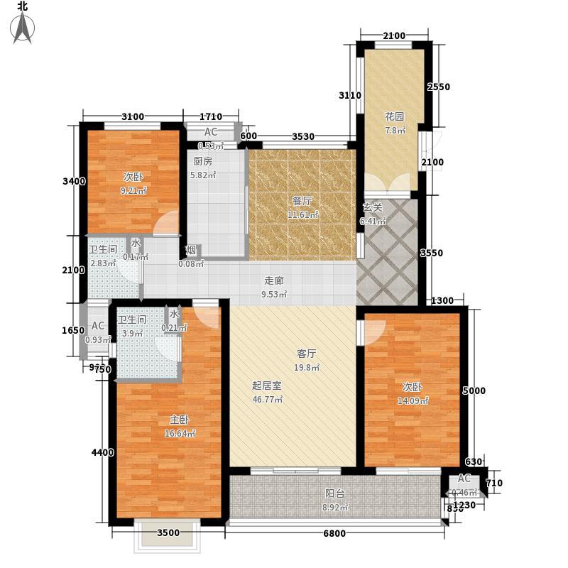主语城160.00㎡多层户型3室2厅