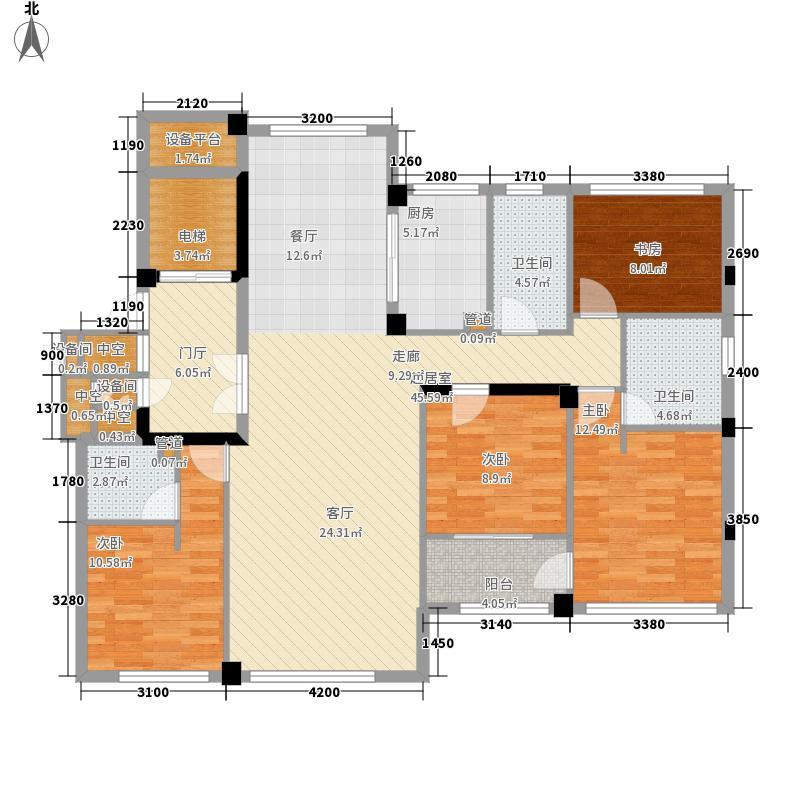 维科东院139.00㎡户型3室2厅