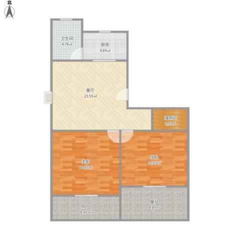 众众德尚世嘉别墅2室1厅1卫1厨113.00㎡户型图