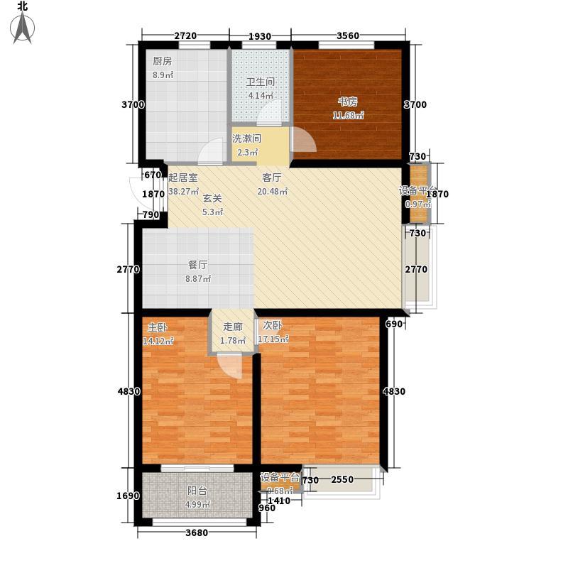万合馨苑113.00㎡E-1户型3室2厅