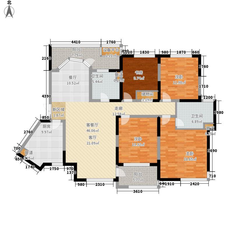 爱家国际华城159.00㎡5号楼2面积15900m户型