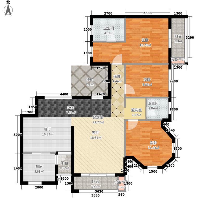 龙光阳光海岸123.10㎡DC-1a 户型3室2厅
