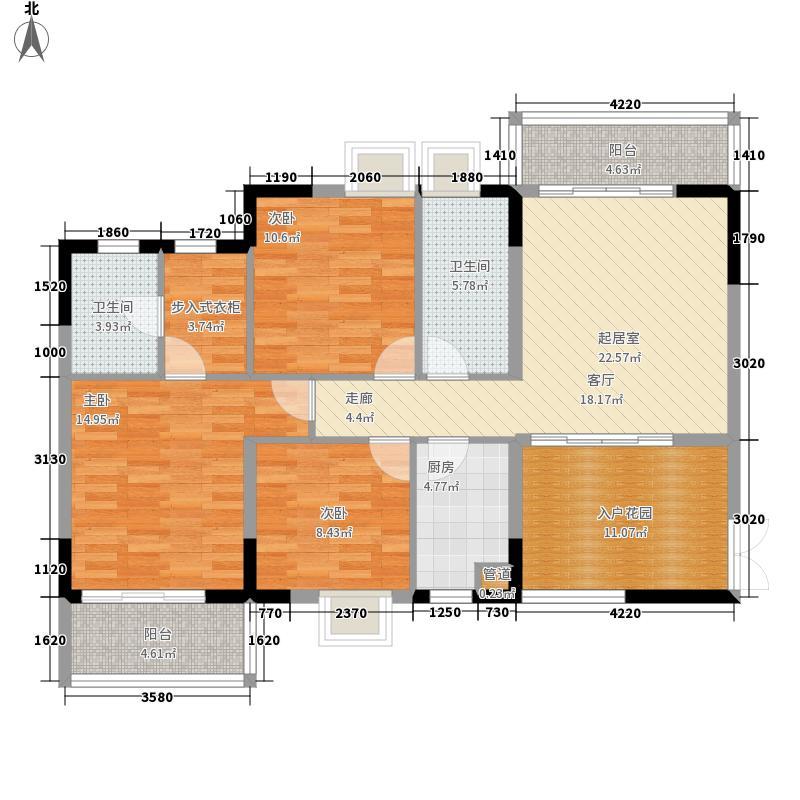 湘麓国际113.00㎡10栋B2面积11300m户型