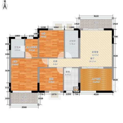 湘麓国际3室0厅2卫1厨113.00㎡户型图