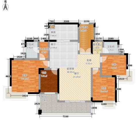 湘麓国际4室0厅2卫1厨145.00㎡户型图