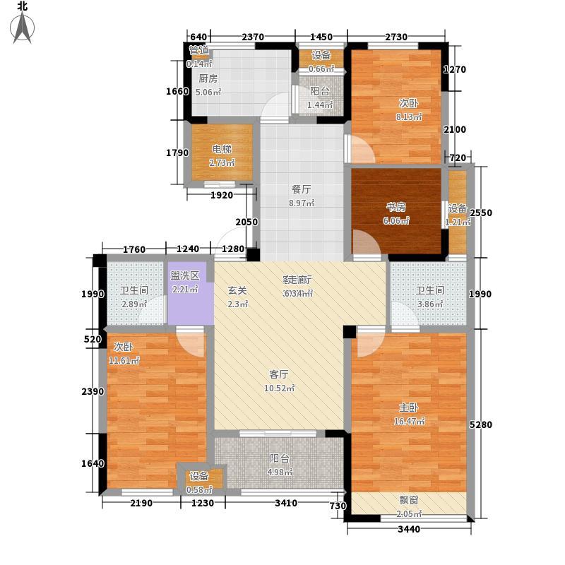 上林国际上林君悦109.34㎡小高层A户型4室2厅