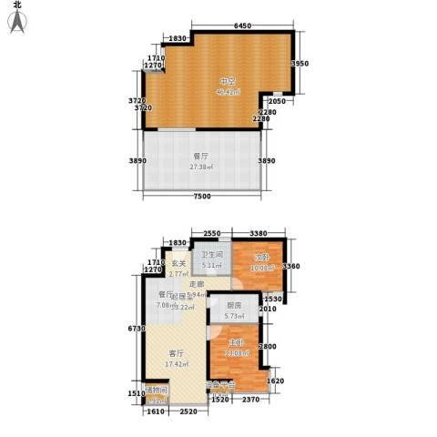 华美橡树岭2室1厅1卫1厨157.81㎡户型图