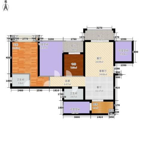 星光苑2室1厅2卫1厨149.00㎡户型图