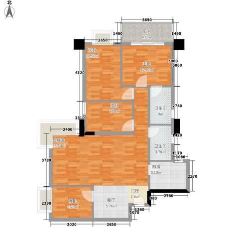 赛拉维4室0厅2卫1厨122.00㎡户型图