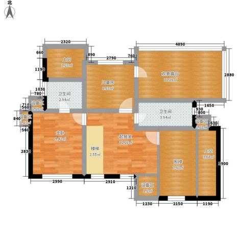 渡外云居2室0厅2卫0厨76.00㎡户型图