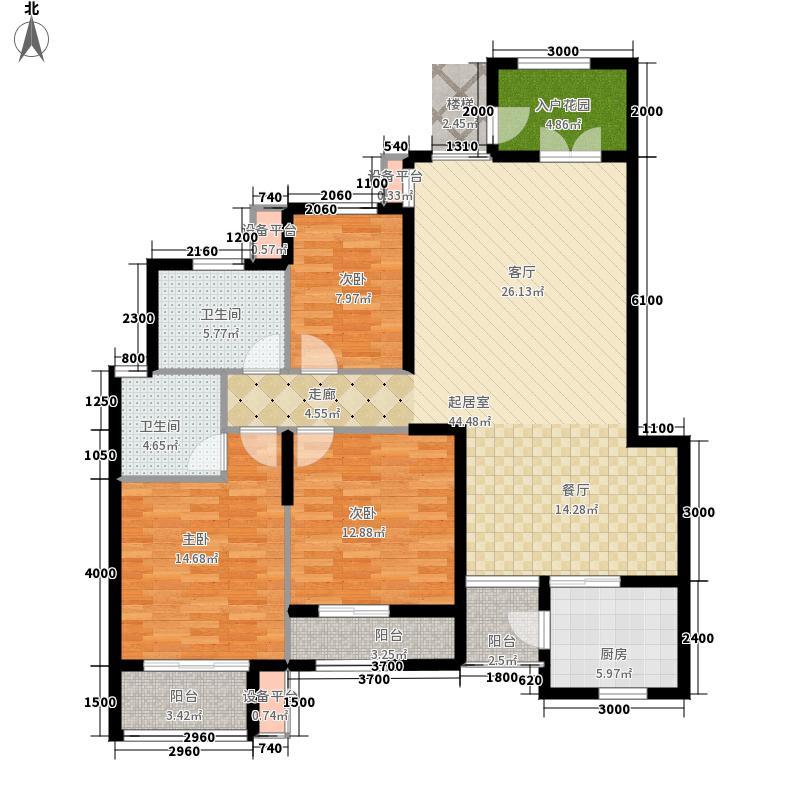 龙光阳光海岸123.30㎡DC-1b 户型3室2厅