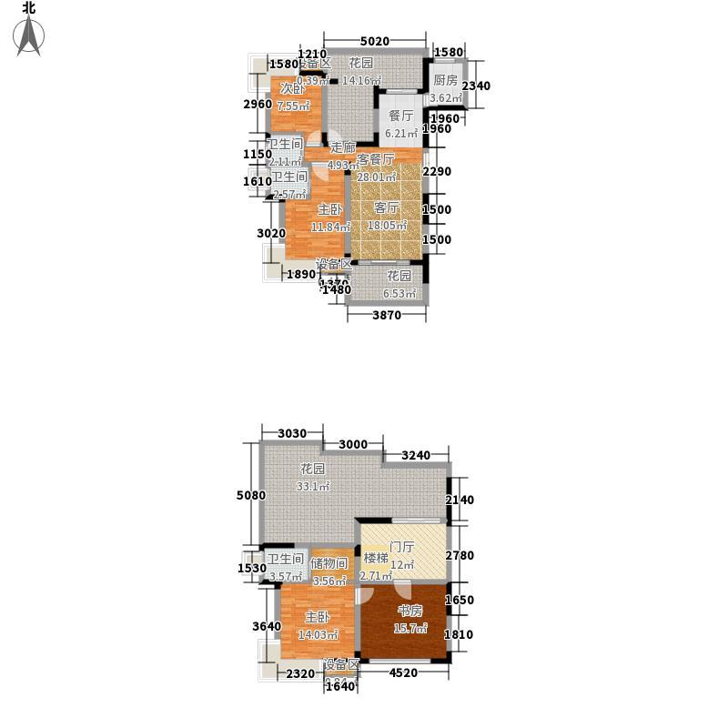 欧郡A区184.00㎡一期A区C顶跃户型