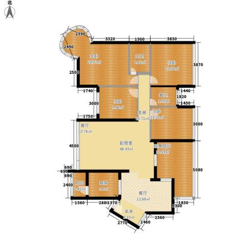 碧海红湖4室0厅0卫1厨170.00㎡户型图