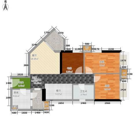 西门口广场3室0厅1卫1厨75.00㎡户型图