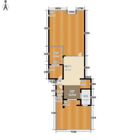 龙湖悠山庭院1室1厅1卫1厨169.89㎡户型图