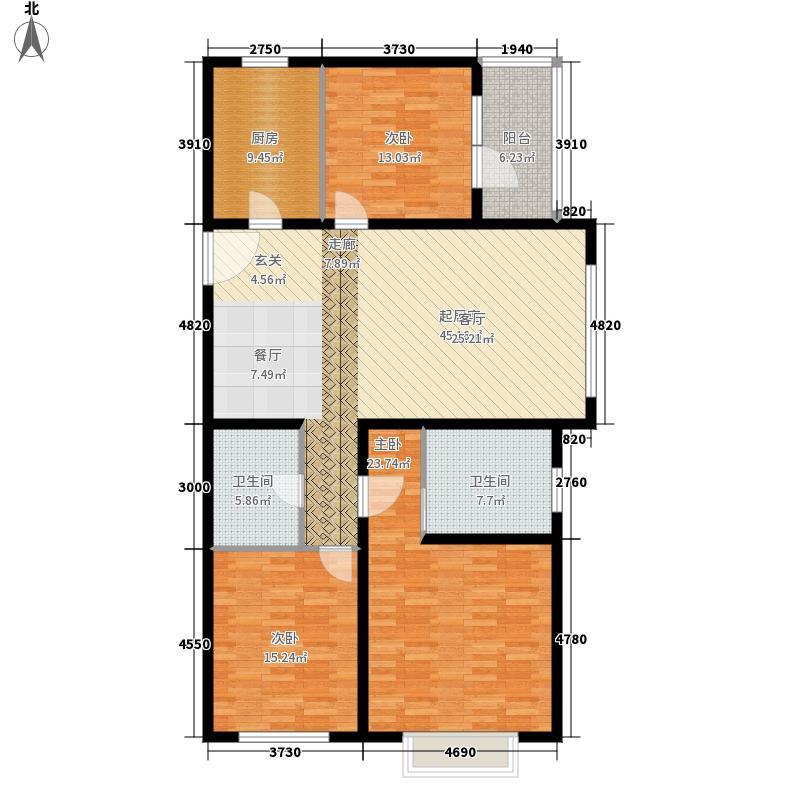 万达·维多利亚湾141.00㎡L1户型3室2厅